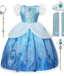 Cinderella Girl Dress 2020 new Christmas Girl Princess navidad Kids clothes Children vestidos Halloween Party Cosplay Costume 1