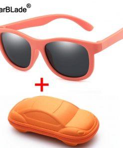 WBL Kids Polarized Sunglasses TR90 Boys Girls Children Sun Glasses Silicone Safety Baby Glasses UV400 Eyewear Oculos With Case 1