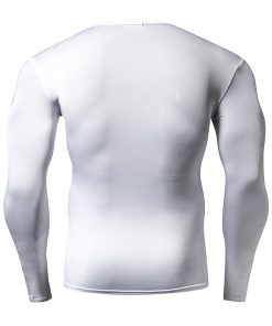 Hot Sale Solid color Fashion Fitness Compression Shirt Men Bodybuilding Tops Tees Tight Tshirts Long Sleeves Clothes 2