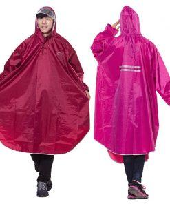 QIAN Men/Women Impermeable Raincoat Electromobile/Bicycle Sleeved Rain Poncho Thick Visable Transparent Hood Rain Gear Rain Coat 2