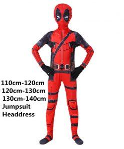 Boy Deadpool Costume Kids Cosplay  Superhero Costumes Mask Suit Jumpsuit Gloves Halloween Party CostumeCarnival Show Carnival 2