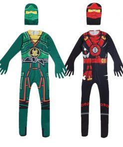 Ninja Costume Kids Costumes Halloween Costumes for kids Ninjago Costume Boys Halloween Dress Cosplay Superhero Jumpsuits Suits 1