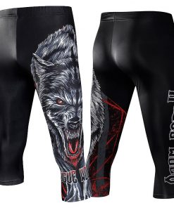 Compression Leggings Knee Pads Men's Running Pants Gym Fitness Sportswear Jogger Training Yoga Pants for Men Cropped Trousers 3