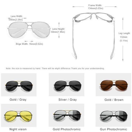 KINGSEVEN Men's Aluminum Sunglasses Photochromic With Polarized Lens Steampunk Style Fishing Driving Sun glasses Men Goggles 3