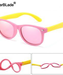 WarBlade Fashion Kids Sunglasses Children Polarized Sun Glasses Boys Girls Glasses Silicone Safety Baby Shades UV400 Eyewear 2