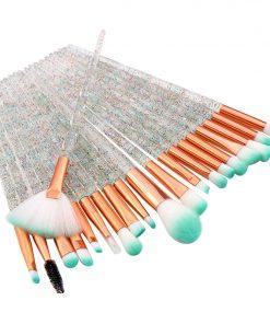20PCs Diamond Makeup Brushes Set For Eye Shadow Powder Foundation Lip Professional Make-up Tools Cosmetic Beauty Make Up Brush 1