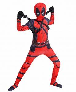 Boy Deadpool Costume Kids Cosplay  Superhero Costumes Mask Suit Jumpsuit Gloves Halloween Party CostumeCarnival Show Carnival 1