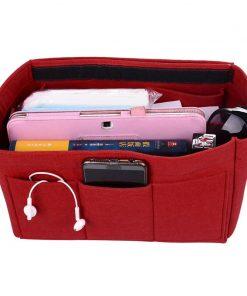 Hot Girl Toiletry Storage Bag Ladies Felt Makeup Bag Organizer Felt Insert Bag For Handbag Multi-functional Travel Cosmetic Bag 2