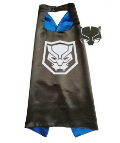 Black Panther Costume Superhero Cape and Mask Anime Costume for Kids 1