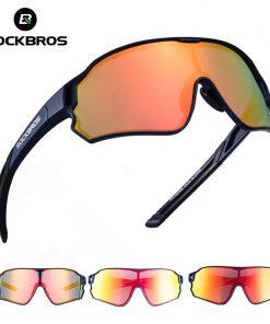 ROCKBROS Cycling Glasses MTB Road Bike Polarized Sunglasses UV400 Protection Ultra-light Unisex Bicycle Eyewear Sport Equipment 1