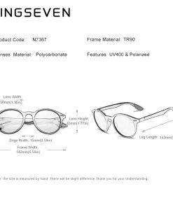 KINGSEVEN TR90 Vintage Men Sunglasses Polarized Oval Frame Sun glasses Women Men Unisex Night Vision Goggles Oculos De Sol 2
