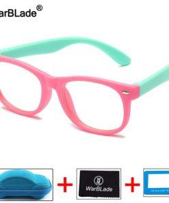 WarBLade Kids Anti Blue Light Blocking Glasses Children Optical Frame Eyeglasses Boys Girls Computer Transparent Eyewears UV400 2