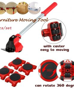 2020 New Dropship Furniture Mover Tool Set Heavy Stuff Transport Lifter 4 Wheeled Mover Roller with Wheel Bar Moving Device Tool 1
