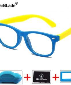 WarBLade Kids Anti Blue Light Blocking Glasses Children Optical Frame Eyeglasses Boys Girls Computer Transparent Eyewears UV400 1