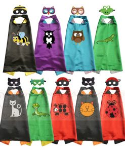 Animal Costumes Christmas Costume Halloween Costumes Superhero Cape with Masks for Kids Birthday Party 1