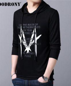 COODRONY Brand Mens Hoodies Autumn Winter Casual Hooded Sweatshirt Men Streetwear Fashion Pattern Pullover Hoodie Men Tops 94009 2