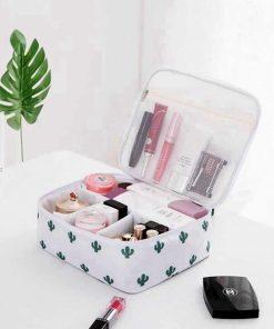 Women Cartoon Flamingo Cosmetic Bag Function Makeup Bag Travel Trunk Zipper Make Up Organizer Storage Pouch Toiletry Kit Box 3