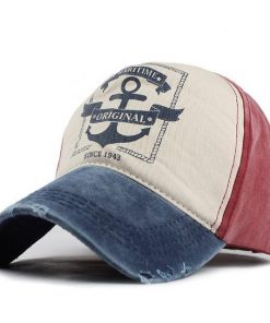 hip hop snapback hats couples hat Man Woman pure cotton baseball caps do old pirate ship anchor gorras wash cap 1