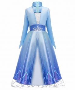 2020 Cosplay Snow Queen 2 Elsa Dresses Girls Dress Elsa Costumes Anna Princess Party Kids Vestidos Fantasia Girls Clothing 2