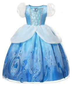 Cinderella Girl Dress 2020 new Christmas Girl Princess navidad Kids clothes Children vestidos Halloween Party Cosplay Costume 2