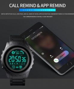 SKMEI Bluetooth Sport Mens Watch APP Call Reminder Wrist Smart Watch Heart Rate Watches Men Luminous reloj inteligente 1626 2