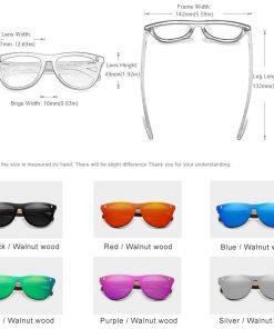 KINGSEVEN Exclusive Design Vintage Men's Glasses Walnut Wooden Sunglasses UV400 Protection Fashion Square Sun glasses Women 5510 2