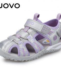 UOVO New Arrival 2020 Summer Beach Sandals Kids Closed Toe Toddler Sandals Children Fashion Designer Shoes For Girls #24-38 1