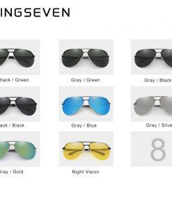 KINGSEVEN Aluminum Magnesium Polarized Rimless Lens Sunglasses For Men High Definition Retro Women Eyewear Oculos de sol 2