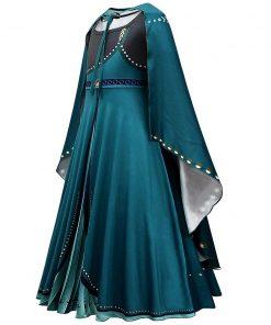 Disney Frozen 2 Costume for Girls Queen Anna Dress Floor Length Long Sleeve Kids Cosplay Princess Anna Maxi Dress Carnival Gowns 2