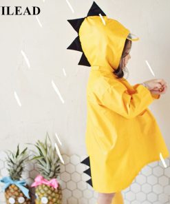 VILEAD Cute Dinosaur Polyester Baby Raincoat Outdoor Waterproof Rain Coat Children Impermeable Poncho Boy Girl Rain Jacket Gift 1