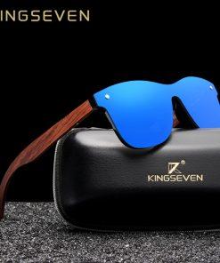 KINGSEVEN Natural Wooden Sunglasses Men Polarized Fashion Sun Glasses Original Wood Oculos de sol masculino 1