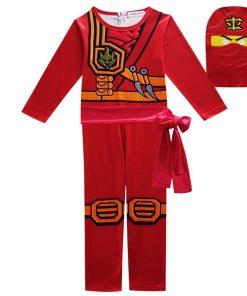 Lego Phantom Boy Costume Kids Fancy Party Dress Up Halloween Costume for Kids Ninja Cosplay Superhero Jumpsuit Set 2
