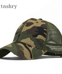 2019 new Camo Mesh Baseball Cap Men Camouflage Bone Masculino Summer Hat Men Army Cap Trucker Snapback Hip Hop Dad Hats Gorra 1
