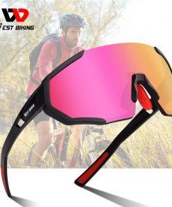 WEST BIKING Pro 3 Lens Polarized Cycling Glasses UV400 Protection Sunglasses Men Women MTB Road Bike Eyewear Cycling Goggles 1