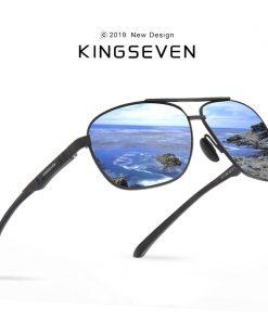KINGSEVEN 2019 Brand Men Aluminum Sunglasses HD Polarized UV400 Mirror Male Sun Glasses Women For Men Oculos de sol 1