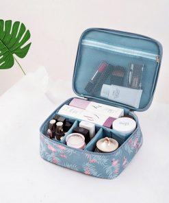 RUPUTIN 2018 New Women's Make up Bag Travel Cosmetic Organizer Bag Cases Printed Multifunction Portable Toiletry Kits Makeup Bag 2