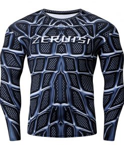 NEW Superhero Punisher Rash Guard Running Shirt Men Long Sleeve Compression Shirts Gym T-shirt Fitness Bodybuilding Sport Tops 1