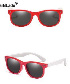 Cute Children Polarized Sunglasses TR90 Boys Girls Kids Sun Glasses Silicone Safety Glasses Gift For Baby UV400 Eyewear Oculos 2