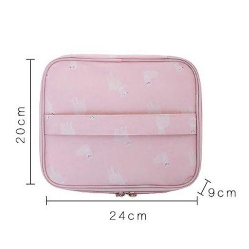 Women Cartoon Flamingo Cosmetic Bag Function Makeup Bag Travel Trunk Zipper Make Up Organizer Storage Pouch Toiletry Kit Box 6