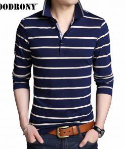 COODRONY T Shirt Men Brand Clothes 2019 Autumn New Long Sleeve T-Shirt Men Cotton Tee Shirt Homme Casual Striped Tshirt Top 8614 1