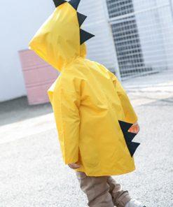 VILEAD Cute Dinosaur Polyester Baby Raincoat Outdoor Waterproof Rain Coat Children Impermeable Poncho Boy Girl Rain Jacket Gift 2