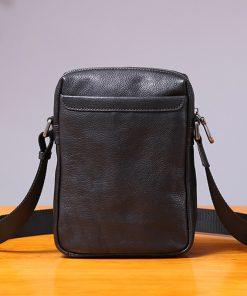 AETOO Single shoulder bag male leather casual vertical small bag handmade retro head cowhide men's small satchel 2