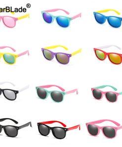 WarBlade Fashion Kids Sunglasses Children Polarized Sun Glasses Boys Girls Glasses Silicone Safety Baby Shades UV400 Eyewear 1