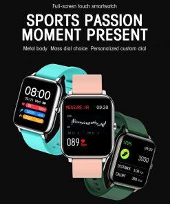 Smart Fitness Sport Men Women Watch Full Screen Touch Heart Rate Tracker Waterproof Call Message Reminder Smartwatch Watches P22 2