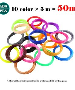 Plastic for 3D Pen 50 Meter PLA 1.75mm 3D Printer Filament Printing Materials Extruder Accessories Parts ABS Printing Material 1