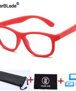 WBL Children Anti Blue Light Glasses Kids Optical Frame Eyeglasses Boys Girls Computer Clear Blocking Reflective Glasses UV400 2