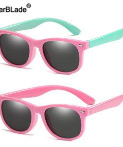 Cute Children Polarized Sunglasses TR90 Boys Girls Kids Sun Glasses Silicone Safety Glasses Gift For Baby UV400 Eyewear Oculos 1