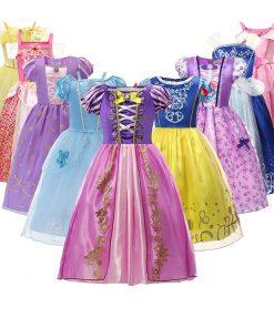 Christmas Girls Princess Dress Halloween Costume Birthday Party Clothing for Children Kids Vestidos Robe Fille Girls Fancy Dress 1