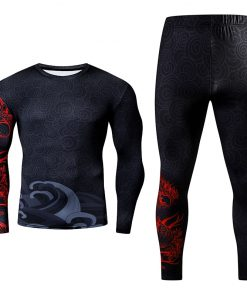 Men Set 3D Print Chinese Style Sports Tracksuit Running Gym Clothes Exercise Jogger Workout Cosplay Plus Size Skinny Men Suits 1