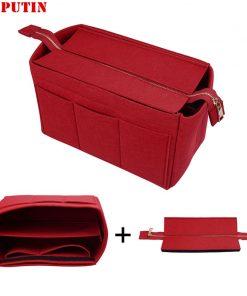Hot Girl Toiletry Storage Bag Ladies Felt Makeup Bag Organizer Felt Insert Bag For Handbag Multi-functional Travel Cosmetic Bag 1